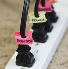 Organizing the Cords Under Your Desk - The Tools & How-to
