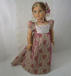 Valentine Regency Dress Jane Austen Era for Elizabeth Caroline American Girl | eBay
