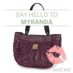 Oooh la la, Myranda! Pucker up to this beautiful plum Shell. Available @ angel.miche.com