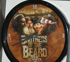 """New 12"""" Wall Clock Duck Dynasty Brothers of the Beard Battery Memory Company A&E #MemoryCompany #DuckDynasty"""