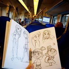 Train doodle time 😊 #art #drawing #instaart #doodle #girl #illustration #draw #sketchbook #sketch #tekenen #myart