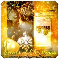 Scents of Christmas, scented candle by Jewelry Candles! <3