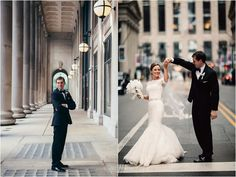 Bride, groom...Chicago! Real Wedding at Embassy Suites Chicago Downtown |  Images by Studio Finch    #city - urban, #lace wedding dress, #chicago