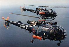 Alouette IIIs of French Aeronavale (Fleet Air Arm) Escadrille 22 S.