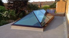 flat roof extension glass roof - Google Search                                                                                                                                                     More