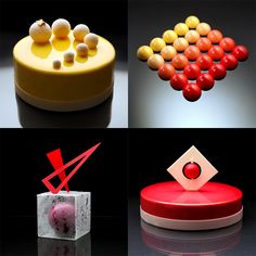 When looking at a case of pastries in a bakery it's usually possible to intuit what something might taste like because of its familiar shape or color. Such is not the case with these radically unusual cake designs by Ukrainian pastry chef Dinara Kasko whose experimental techniques result in edible o