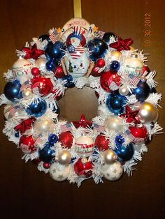Patriotic Snowman-I want to make something similar!!
