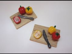 Polymer Clay Miniature - Bell pepper - YouTube