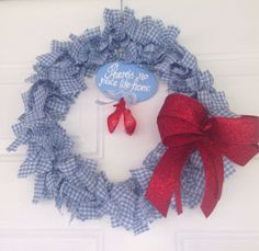 The Wizard of Oz's Dorothy Inspired Handmade Wreath by CDAdorableAdornments on Etsy
