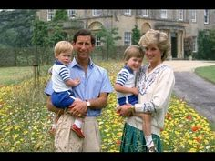 Royal family: Prince Charles holding Prince Harry and Diana, Princess of Wales, holing Prince William. Love Princess Diana Picture with her Royal Family.
