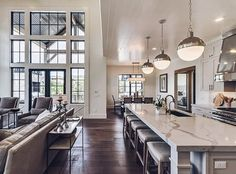Home Decor Kitchen .Home Decor Kitchen Farmhouse Kitchen Decor, Home Decor Kitchen, Home Kitchens, Open Kitchen And Living Room, Spacious Living Room, Style At Home, Home Fashion, My Dream Home, Dream Homes