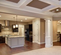 decorative kitchen columns |  carpentry, trim and cabinets in