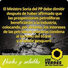 Los Verdes exigen al gobierno de Rajoy la desautorización de las prospecciones petrolíferas en el Golfo de Valencia