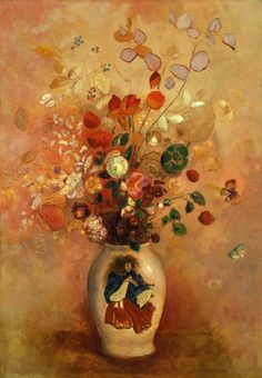 Flowers in a Japanese Vase - Odilon Redon