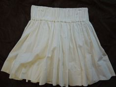 S/M #Delias #Cotton #Skater #Skirt #Full #Pleated #White #Fashion #Summer