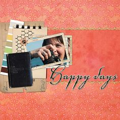 Happy Days Digital scrapbook layout by Valerie Randall