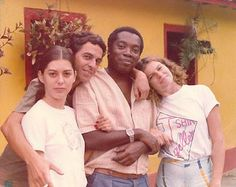 Amigos desde sempre, Bituca com Cristina Ache, Tavinho Moura e Débora Bloch.
