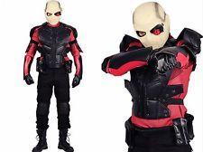 XCOSER Suicide Squad Deadshot Costume Outfit COSplay Hero Battle Uniform Suits