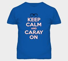 Keep Calm And Caray On Funny Chi Town Chicago Harry Baseball Cubs Tshirt. Available in all sizes in men's and ladies shirts. Visit www.fanTstore.com