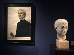 Claudio Bravo, Self-Portrait (1962) and Elie Nadelman (1908-12). Photo Lorena Muñoz-Alonso.
