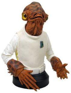 Gentle Giant Studios - Star Wars buste Admiral Ackbar 16 cm by Gentle Giant Studios. $55.95. Star Wars: Admiral Ackbar Bust. Buste en résine taille env. 16 cm sur socle. Modèle fini et peint à la main en édition limitée numérotée avec certificat dauthenticité.