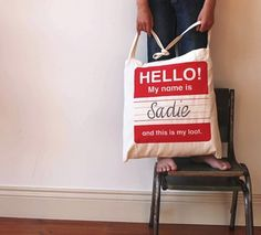 @amanda roth a little screen printing and a little embroidery?  Did you have a stash of plain canvas bags?