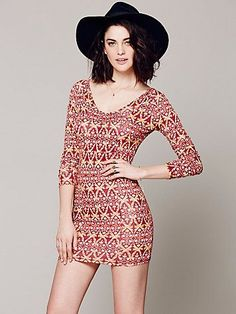 Free People Strapped Up Print Bodycon