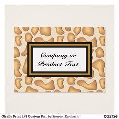 Giraffe Print 2/S Custom Business/product card