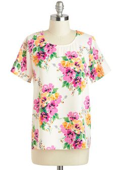 Flying Hibiscus Top, #ModCloth