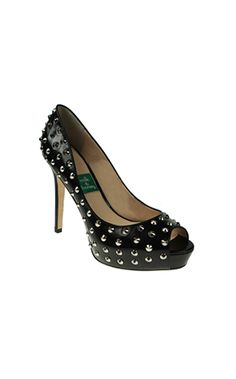 Not your typical vegan shoe! Customize your heel height.     Vegan Studded Pump on Ethical Ocean ($305) #vegan #shoes