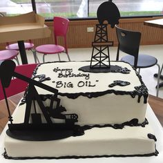 Oil field birthday cake. This was a big hit for his birthday party!