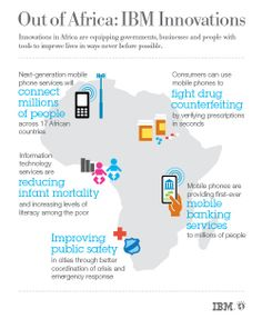 Out of Africa IBM Innovations Infographic by ibmphoto24, via Flickr #albertobokos