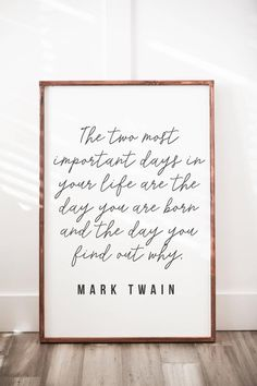 Simple home Quotes - Mark Twain Quote Wood Sign Peace Quotes, Quotes To Live By, Citations De Mark Twain, Into The Woods Quotes, Mark Twain Quotes, Audrey Hepburn Quotes, Thing 1, Neil Armstrong, Albert Einstein Quotes
