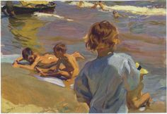 joaquin sorolla y bastida(1863-1923), children on the beach, valencia, 1916. oil on canvas, 70 cm x 100 cm, private collection. http://www.the-athenaeum.org/art/detail.php?ID=42924