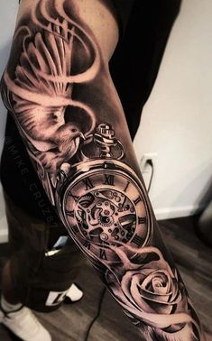 As aesthetically pleasing as tattoos are, they can be costly and require a lot of time, effort, and patience. Having a tattoo done is only half the job as the rest requires taking care of it and en… Forarm Tattoos, Forearm Sleeve Tattoos, Full Sleeve Tattoos, Top Tattoos, Badass Tattoos, Tattoo Sleeve Designs, Arm Tattoos For Guys, Tattoo Designs Men, Body Art Tattoos