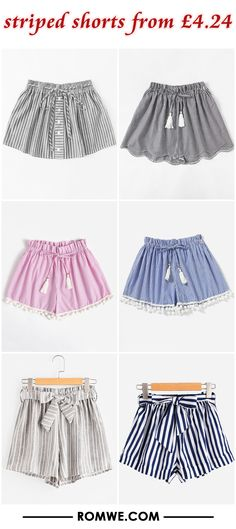 striped shorts from £4.24