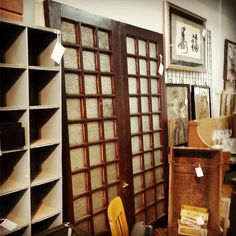 Pair of French Doors with Pattern Glass $165 for the pair  #mercantile_m #MercantileM #Andersonville