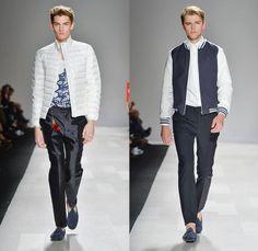Joe Fresh 2014 Spring Summer Mens Runway Collection - World MasterCard Fashion Week Toronto Ontario Canada - Frayed Roll Up Denim Jeans Pago...