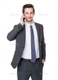 Businessman talk to mobile phone