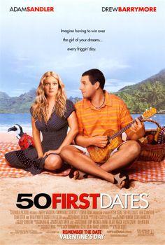 50 First Dates (2004), Adam Sandler, Drew Barrymore, Rob Schneider (So funny, especially Rob Schneider. Great romantic comedy.)