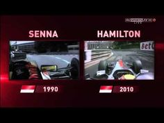 Lewis Hamilton / Ayrton Senna comparison Monaco (Sky F1) - YouTube
