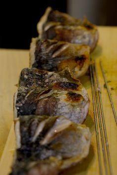 Aji-Shioyaki (roasted saurel)