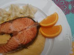 Cocineros del Mundo: Recetas del Reto de Septiembre 2015 - Salmón o Frambuesas Salmón a la plancha con salsa de naranja del blog La Cocina de Sole