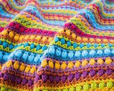 Crochet Blanket PATTERN - Bohemian Nights Blanket - crochet pattern for boho throw afghan, chunky bu Crochet Headband Pattern, Afghan Crochet Patterns, Crochet Motif, Blanket Crochet, Crochet Afghans, Knit Crochet, Boho Throw Blanket, Yarn Sizes, Manta Crochet