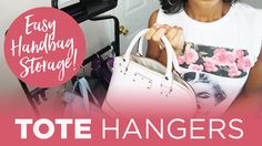 TOTE HANGER  @justmelody featuring our Tote Hanger! Sold at the The Container Store www.ToteHanger.com  https://www.youtube.com/watch?v=4Vd5fm_HewU#t=42 www.ToteHanger.com #totehanger #hook #organize #handbags #bags #tote #fashion #jackieaslick