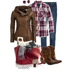 fringed Cowboy Boots, created by imclaudia-1 on Polyvore