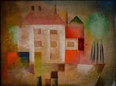 Paul Klee - New House in the Suburbs, 1924 at National Gallery of Art - East Wing - Washington DC