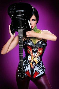 i like it maya hansen Gothic Photography, Guitar Photography, Boho Chick, Pinup, Rockabilly, Suicide Girls, Grunge, Corset Costumes, Rocker Girl