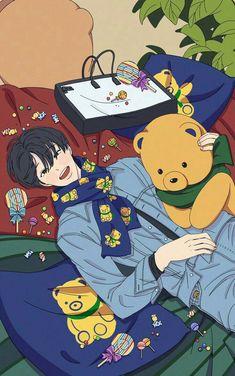 Kai Arts, Taehyung, Exo Anime, Exo Fan Art, Vkook Fanart, Cute Anime Guys, Anime Boys, Fanarts Anime, Anime Art Girl