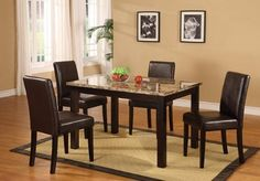 Roundhill Furniture Briden Dark Artificial Marble Top Dinette Dining Set >>> Learn more by visiting the image link.Note:It is affiliate link to Amazon.